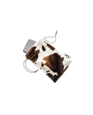etui na telefon z futerka wzór krowa