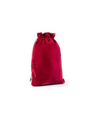 Ekskluzywny worek na bieliznę aksamit czerwony.