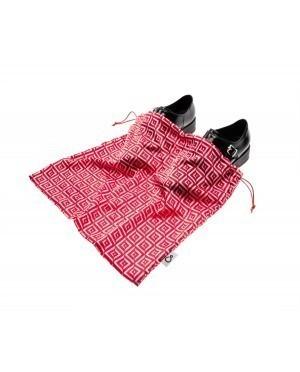 Worek dwukomorowy na buty we wzory czerwony