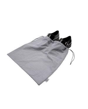 Worek dwukomorowy na buty wzór paski bawełniany