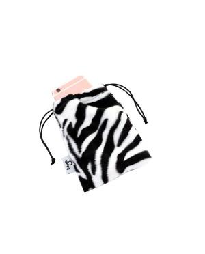 etui na telefon z futerka wzór zebra
