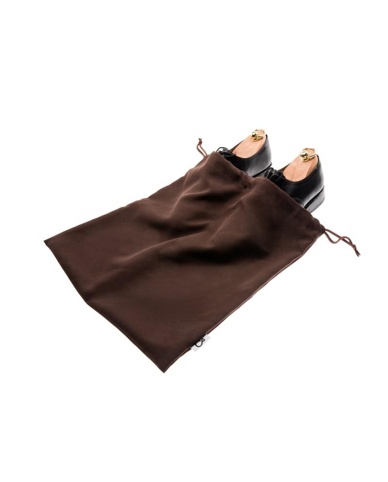 Worek dwukomorowy na buty brązowy