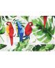 Torba bawełniana wzór papugi