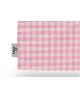torba bawełniana w kratkę różową