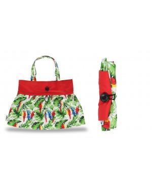 torba bawełniana składana wzór tropikalny