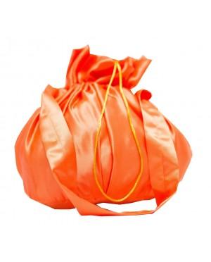 Torebka z rączką pomarańczowa satyna