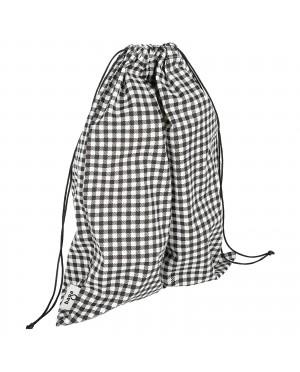 Worek na bieliznę bawełniany wzór kratka
