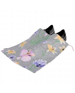 Worek dwukomorowy na buty bawełniany wzór łąka