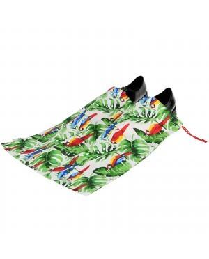 Worek dwukomorowy na buty bawełniany wzór tropiki
